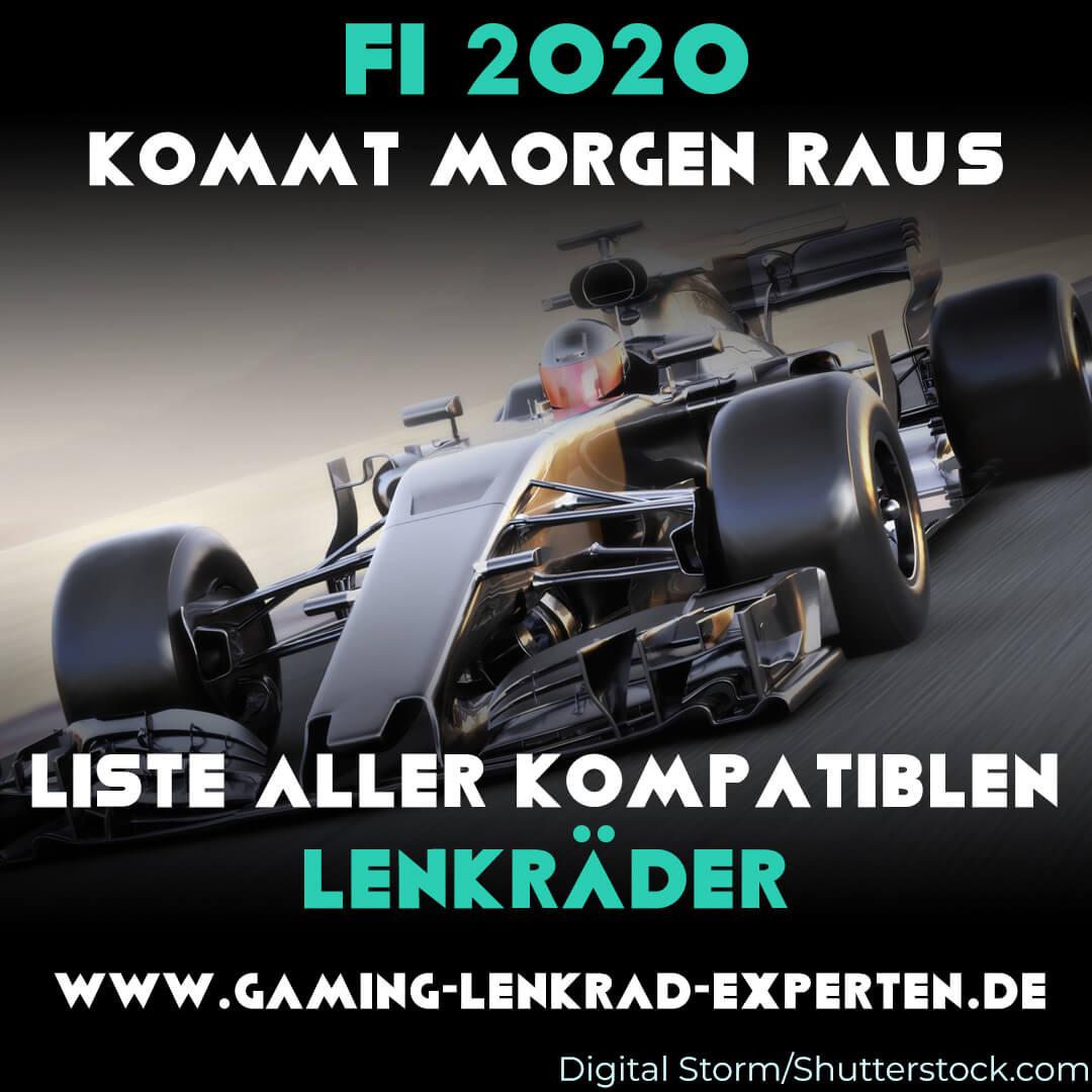 Kompatible Lenkräder für F1. Formel 1-Auto im Hintergrund